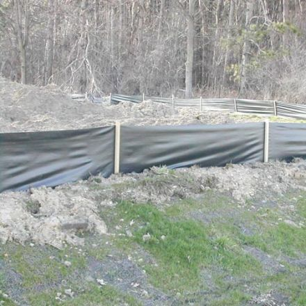Black Silt Fence 3ft X 1500ft 70g Fabric Only
